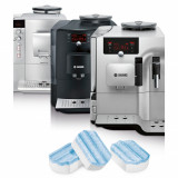 Tablete curatare automat cafea Bosch , 3 buc, 2 in 1, pt programele Descaling si Calcnclean
