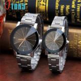 Ceasuri pentru cuplu cu curea metalica, Quartz, Geneva