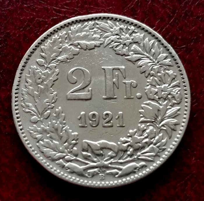 ELVETIA - 2 Franci 1921 B ( Francs - Franken ) Argint