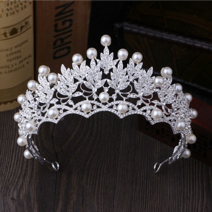 Diadema / tiara / coroana mireasa Ivory Pearl
