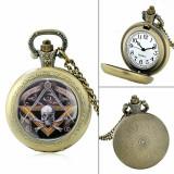 Ceas De Buzunar - Model Illuminati / Mason / Freemasons / Masonic