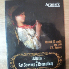 ARTMARK , LICITATIA DE ART NOUVEAU SI ROMANTISM , 13 APRILIE 2011