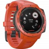 Ceas Smartwatch Garmin Instinct, GPS, Rosu