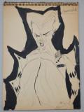 D Vega caiet cu desene 1946, Scene gen, Cerneala, Altul