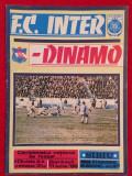 Program meci fotbal INTER SIBIU - DINAMO BUCURESTI (11.06.1989)