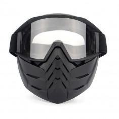 Masca protectie fata, plastic dur + ochelari ski, lentila transparenta, TD02