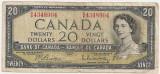 Canada 20 Dollars Dolari 1954 VF