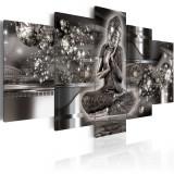 Tablou canvas 5 piese - Seninatate de argint - 200 x 100 cm, Artgeist