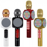 Microfon Wireless Karaoke Radio, BT, USB, SD, Boxa si LED Wster WS1816