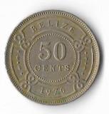 Moneda 50 cents 1976 - Belize, America Centrala si de Sud