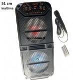 Boxa portabila Bluetooth KTS-1132 Karaoke ,telecomanda + microfon , 51 cm inaltime