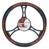 Husa volan cu masaj imitatie de lemn 39-41 cm 4cars TK92285