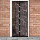 """Perdea anti-tantari pt. usi cu inchidere magnetica, 100 x 210 cm - """"Love"""""""