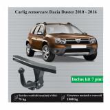 Carlig remorcare Dacia Duster 2010-2016 tip semidemontabil Hakpol