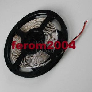 Banda led, de culoare alb cald, 5 m, 300 leduri smd 3528, non-waterproof