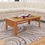 vidaXL Masă de cafea din lemn masiv de nuc, 100 x 54 x 40 cm