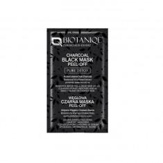 Masca de fata exfolianta Biotanique Dermoskin Expert Charcoal Black Mask Peel-Off, Pure Detox, 8 ml