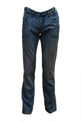 Pantalon barbatesc de blug,model modern ,nuanta de albastr foto