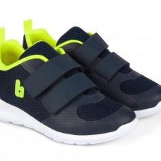 Pantofi Sport Baieti Bibi Easy Bleumarin/Galben Fosforescent 33 EU