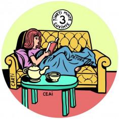 Coaster- Ceai, pătură, cărți