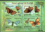 ROMANIA 2002, Fluturi endemici, Fauna, MNH