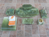Set birou marmura  vechi vintage calimara scrumiera bricheta