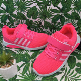 Cumpara ieftin Adidasi roz cu scai f usori pantofi textili pt fete 31 32 34 35 36 cod 0744