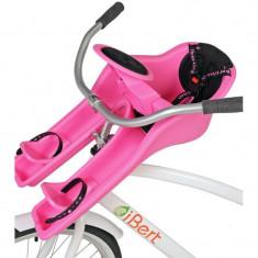 Scaun de bicicleta Safe-T-Seat iBert, prindere pe Ghidon, Roz