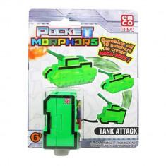 Jucarie convertibila Pocket Morphers - Cifra 1, Tanc