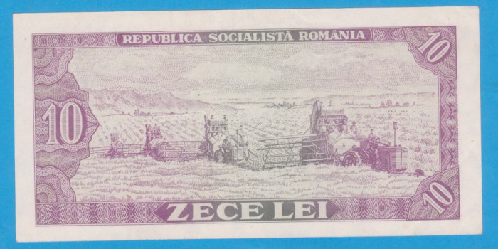 (5) BANCNOTA ROMANIA - 10 LEI 1966, REP. SOCIALISTA ROMANIA, STARE FOARTE BUNA