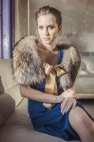 Guler din blana naturala de raton, dama, Artemis Gift