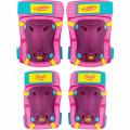 Set protectie cotiere/genunchiere Skate Soy Luna Seven, inchidere tip Velcro, Roz