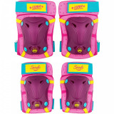 Set protectie cotiere/genunchiere Skate Soy Luna Seven, inchidere tip Velcro, Roz