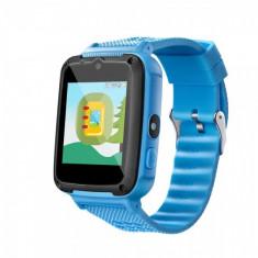 Ceas smartwatch copii GPS OEM YJ658, telefon, touchscreen, camera foto 3MP, monitorizare spion, LBS, buton SOS, albastru