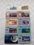 = LOT 445 - TAIWAN - 10 CARTELE TELEFONICE DIFERITE =