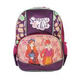 Ghiozdan Smart Chic, clasele I-IV, fete, impermeabil, violet, Pigna