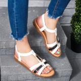Sandale dama albe Ocesia
