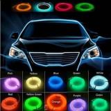 Neon  flexibil,Fir cu lumina ambientala pentru auto -3 Metri