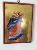 Pictura pe lemn, foita de aur