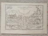 Harta a Imperiului Rus, tiparita in 1780