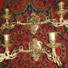 Elegant set de 2 aplice pentru pian din bronz masiv