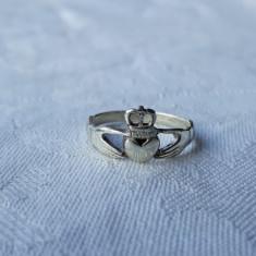 INEL argint CLADDAGH traditional IRLANDEZ simbol DRAGOSTE LOIALITATE PRIETENIE