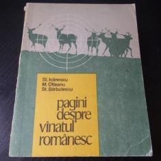 Pagini despre vanatul romanesc – St. Ivanescu, M. Olteanu, St. Barbulescu
