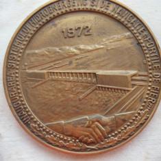 Placheta - Inaugurarea sistemului hidroenergetic Portile de Fier - 1972