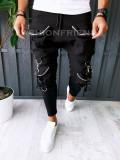 Pantaloni VAGABOND - de trening pentru barbati - slim fit - negri - A6319