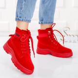 Ghete sport dama textil rosii Camber-rl