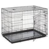 Cumpara ieftin Cușcă pentru câini Black Lux - 2x uși, XXL - 125,8 x 74,5 x 80,5 cm