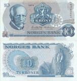 1973 , 10 kroner ( P-36b.1 ) - Norvegia - stare aUNC