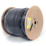 Cablu coaxial f690bv+gel negru tambur 305m