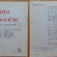 Caiete de filosofie ; Stiinta si cunoastere ; nr. 10 , 1945 , Moisil